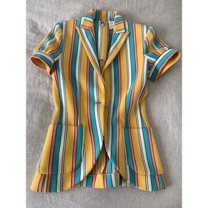 IISLI Striped Jacket Perfect Condition Sz 6